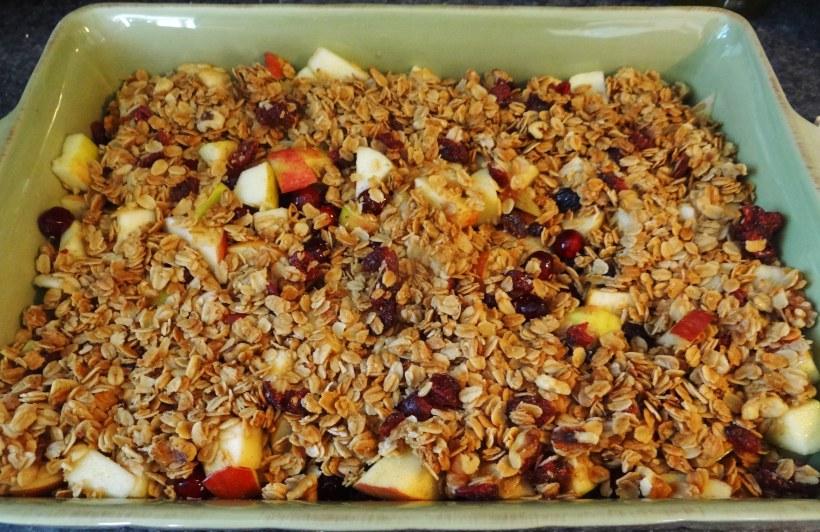 Gluten Free Cranberry-Apple Crumble